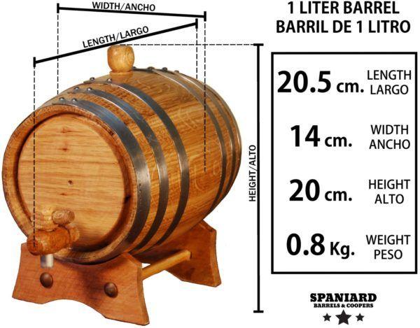 Barril de roble 1 litro