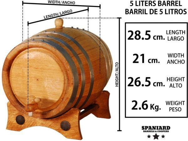 Barril roble 5 litros