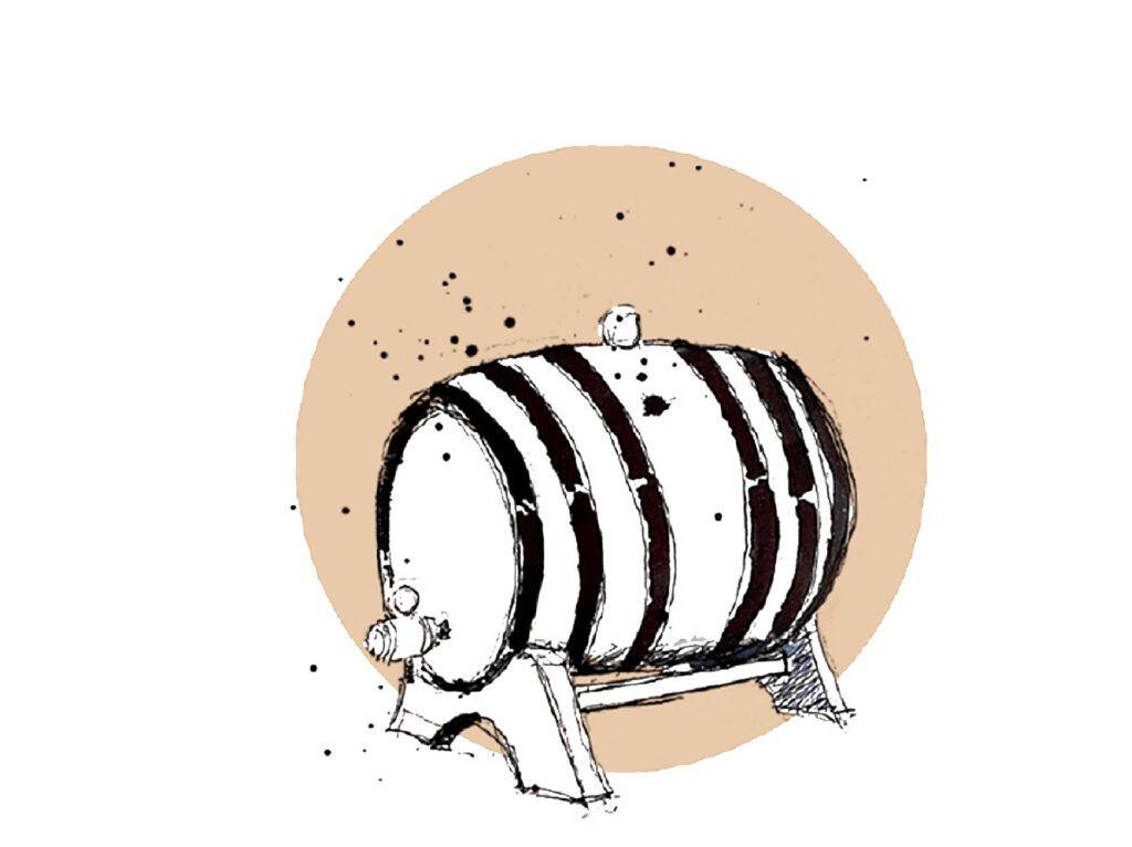 Barril-de-roble-pequeño